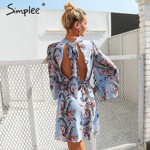 Simplee Backless lace up