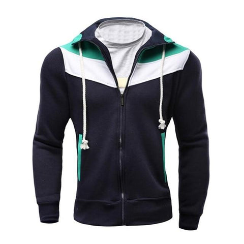 Cotton Thick Slim Hoodies  Patchwork Hoodies