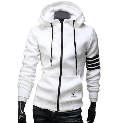 New Fashion Hoodies Leisure Hoodie Sweatshirts Men Casual Zipper Hooded Jackets