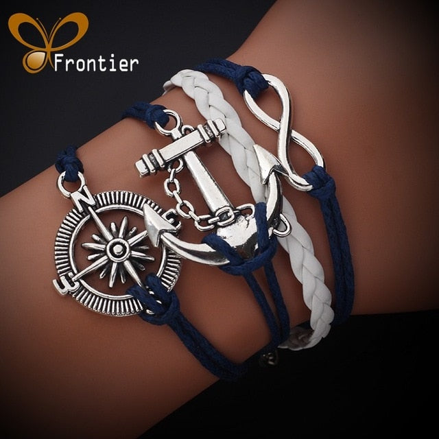 Multilayer Braided Wax Rope Bracelet and Bangle