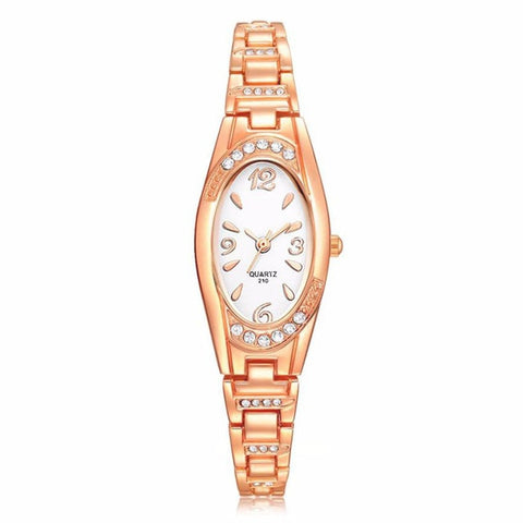 Women Elegant Rhinestone Bracelet Watch