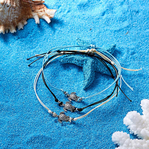3 pieces/set Vintage Sea Tortoise Bracelet