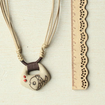 DIY ceramic fashion jewelry women's necklace pendants