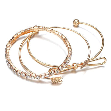 3 Pcs/set Women Bohemian bracelet set gold color