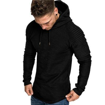 Hot Selling Fashion Solid Color Men Hoodie