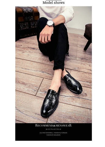 Casual shoes breathable Leather Loafers Office Shoes