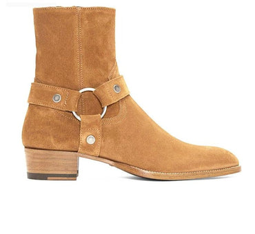 Wyatt Harry Buckle Ring Strap Chelsea Boots
