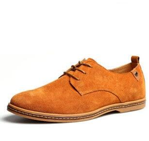Luxury Brand Men Oxfords Shoes  New Men Lace Up Suede Leather Dress Shoes