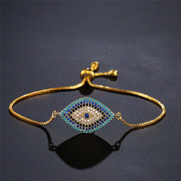 Trendy Turkish Gold Evil Eye Bracelet