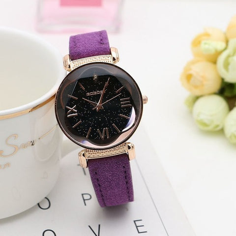 New Fashion Gogoey Brand Rose Gold Leather Watches
