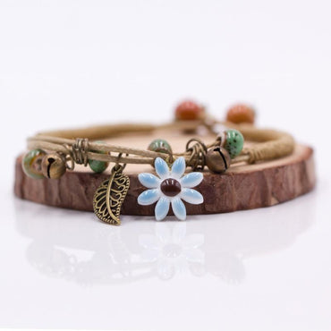 Women's Flower leaf Ceramic Bracelets