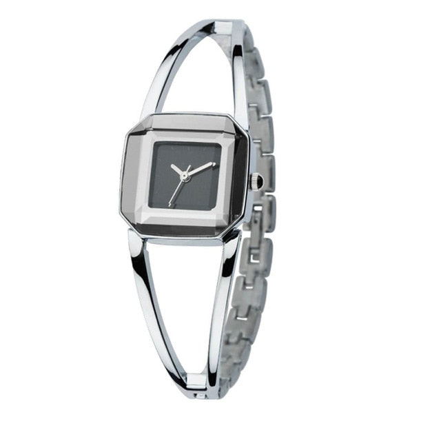 Luxury Crystal Women Watches Exquisite Square  Watches