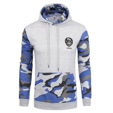 Hoodie Splicing Camouflage Hoodies Men Fashion Tracksuit