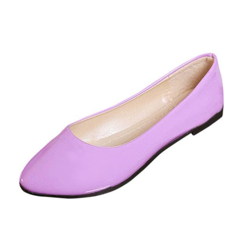 PU Leather Slip On Flat Shoes Casual Colorful Breathable Flat Shoes