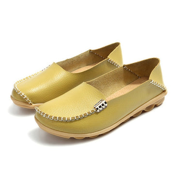 Loafers Soft Moccasins With Genuine Leather  flat Shoes