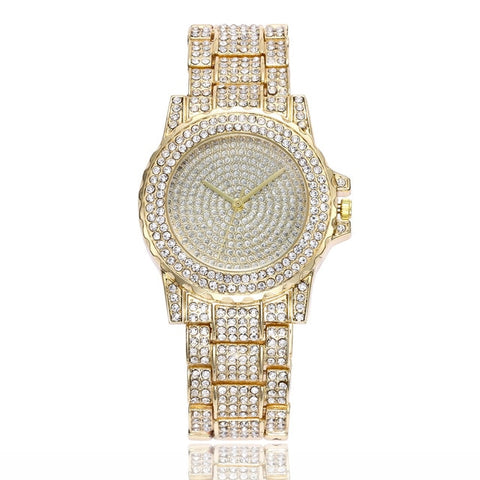 Luxury Brand Watch Women Fashion Rhinestone Stainless Steel Band Analog Ladies Quartz Wrist Watch