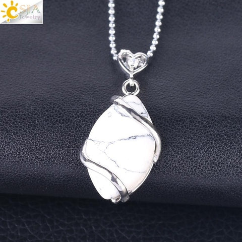 Natural Quartz Crystal Necklace