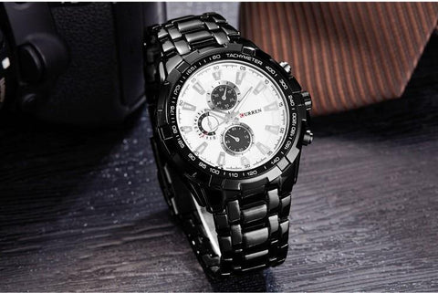 New Curren Luxury Brand Watches Men Quartz Fashion Casual  Sports Watch