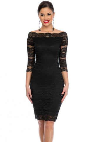 Nech Black Lace Scalloped