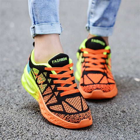 Air Cushion Women Running Shoes Blue Sneakers Sports Shoes Gym Basket