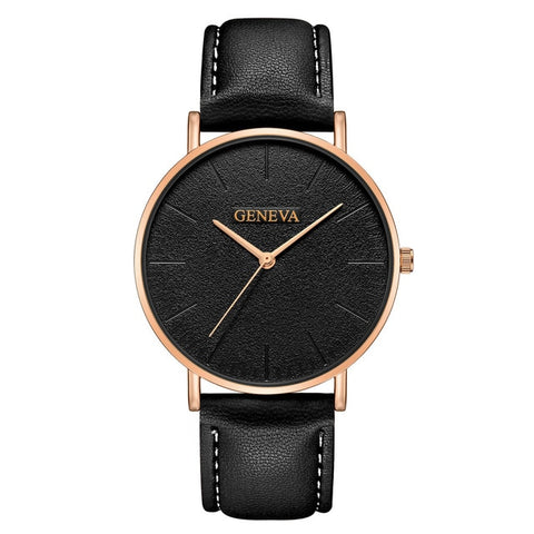 Fashion Casual Women  Minimalist Trend Temperament Art Design Small Dial leather  Watches