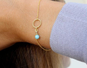 Summer Gold Chain bracelets & bangles Twist circle B