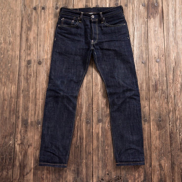 unsanforised thick raw denim jean