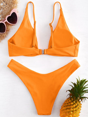 Knotted Bikini Low Rise Cami Swimwear