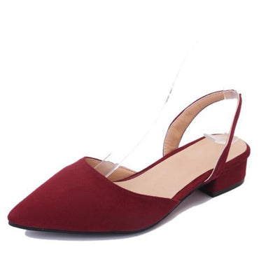 Slingback Flock Casual Footwear Pointed Toe Elegant Low Flat shoes