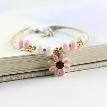 Women's Ceramic hand made DIY Bracelets flower
