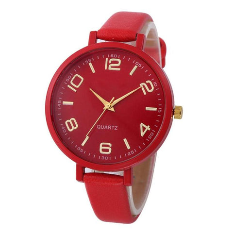 Casual Checkers Faux Leather Quartz Analog Wrist Watch
