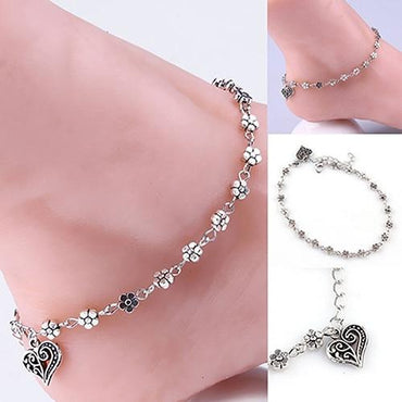 Women Flower Chain Anklet Ankle Bracelet