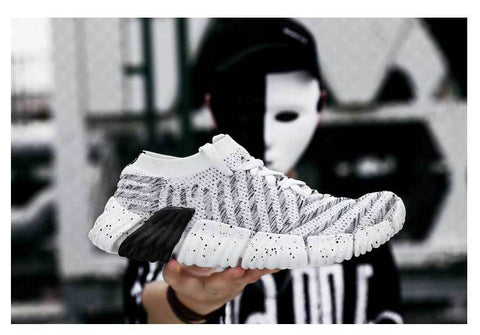 Fly Knit hot sneakers  Lace Up Breathable Casual Men fashion shoes