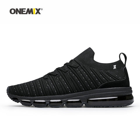 Onemix Men Running Shoes  Grey Max Cushion Socks Loafers Mesh Designer Jogging Sneakers