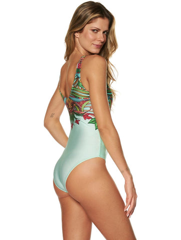 Striped One Piece High Quality Swimwear