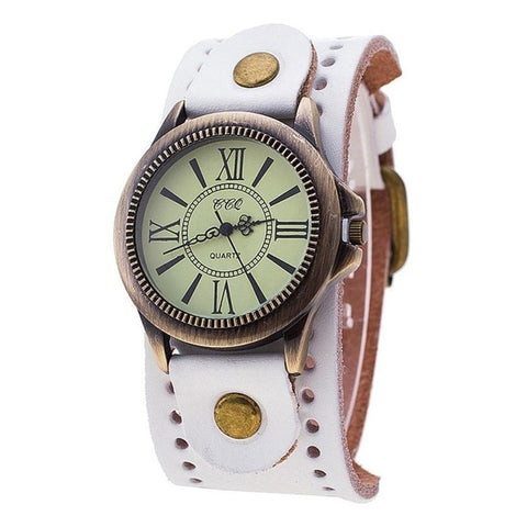 Vintage Leather Dress Quartz Watch