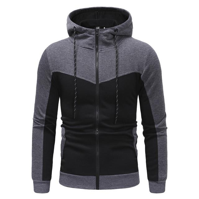 Casual Packwork Slim Fit Sweatshirt Hoodies