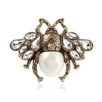 Jewelry Vintage Bee Simulated Pearl Bee Ring