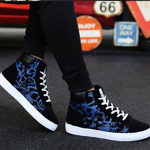 Male Fashion  Pattern Printed Lace Up High fashion shoes