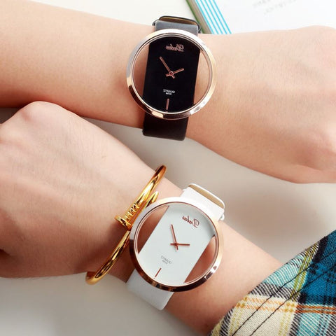 Genuine Leather Quartz Watch Lady Watches