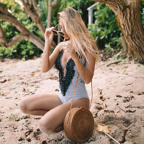 Sexy One Piece Bandage Monokini Swimsuit