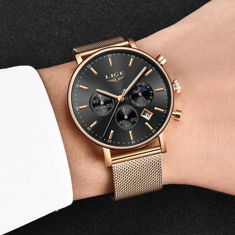 Top Brand Luxury Quartz Watch Men Casual Slim Dress Waterproof Sport WristWatch