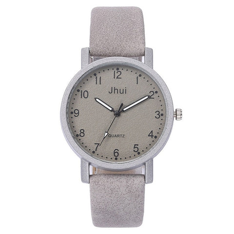Casual Quartz Leather Band New Strap Watch