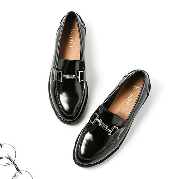 Patent Leather Moccasins Flats Shoes