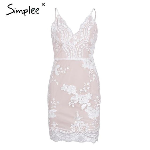 Simplee Sexy club backless formal dress
