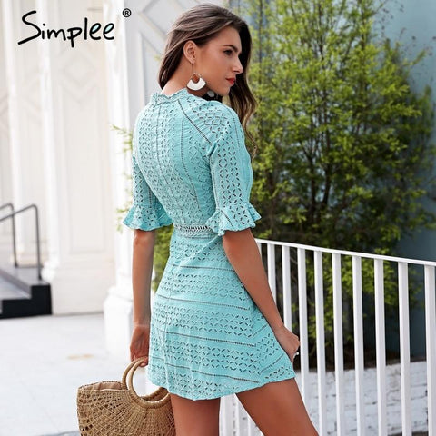 Lace dress Half sleeve