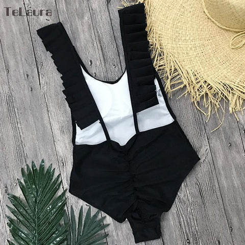 New Sexy One Piece Push Up Women Swimwear