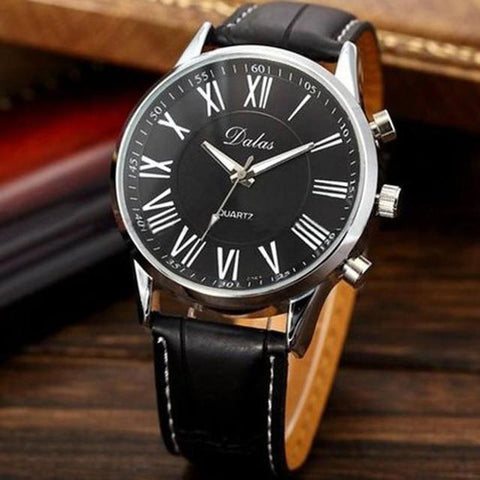 Top Brand Luxury Men Watch Leather  Military Wrist Watches