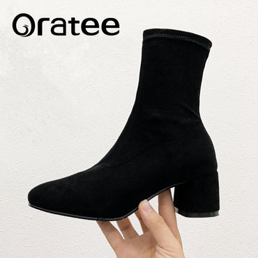 Slip ankle boots