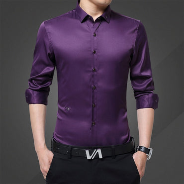 Formal Shirts For Men Swallow Embroidery Men Shirt